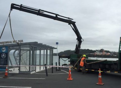 Birkenhead wharf bike shed cost $60K has gone