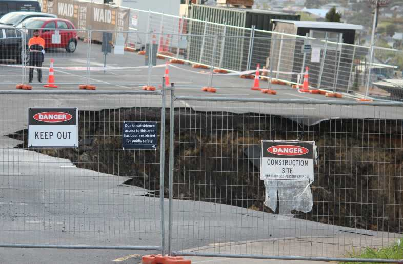 Cracks under a north Auckland carpark first noticed in August