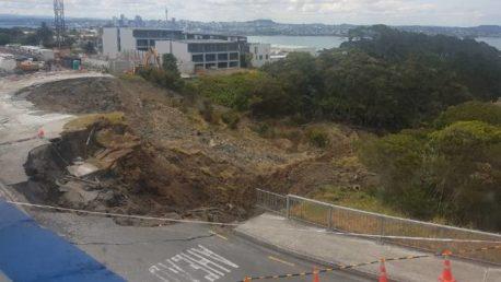 It has happened again: Second slip in Auckland's Birkenhead car park