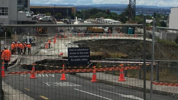 Auckland car park landslide holding: Community discusses its future